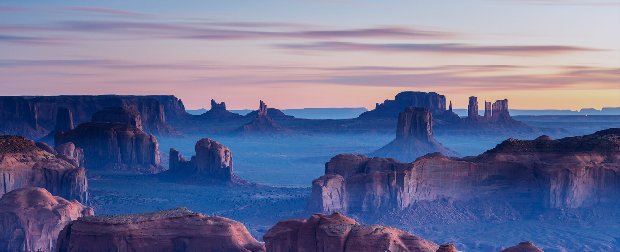 Sunset in Hunts Mesa, Monument Valley, Arizona
